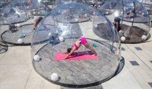 Canadá: instalan domos para practicar yoga y fomentar distanciamiento social en tiempos de pandemia