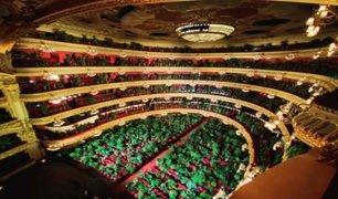 Ópera de Barcelona reabrió sus puertas pero con plantas como público