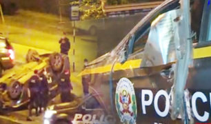 Patrullero se estrella  contra muro de concreto en Independencia