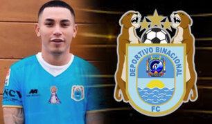 Jean Deza fue oficializado como nuevo jugador del Deportivo Binacional