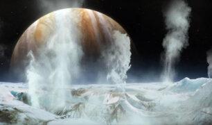 NASA: océano descubierto en luna Europa del planeta Júpiter sería capaz de sostener la vida
