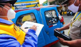 Intervienen 50 mototaxis por no cumplir con medidas sanitarias en Cercado de Lima