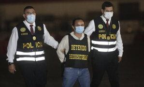 Gregorio Santos llegó a Lima tras ser capturado en Rioja