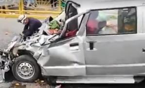 Triple choque en puente Primavera deja al menos un muerto en San Borja