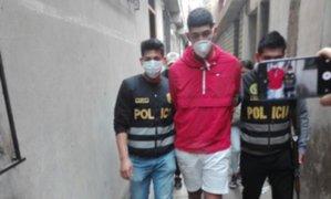 Capturan a peligroso ladrón que golpeó, arrastró y arrebató dinero a una mujer en Surco