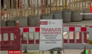 San Isidro: Cierran nuevamente ciclovía del Puente de la Amistad