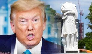Donald Trump ordena pena de prisión para quien ataque estatuas