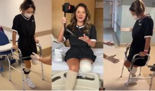 Colombia: Reina de belleza da sus primeros pasos tras amputación de pierna