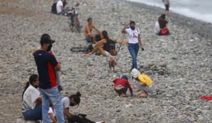 Decenas de personas visitaron playas de la Costa Verde pese a la cuarentena