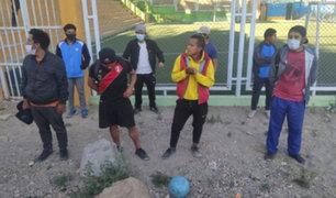 Arequipa: detienen a siete jóvenes que jugaban fulbito en plena cuarentena