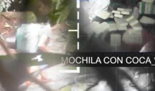 Mochileros trasladaban kilos de cocaína en el corazón de la selva peruana
