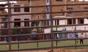 SMP: jóvenes juegan fulbito en plena cuarentena