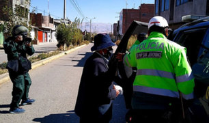 Junín: detiene a tres personas que querían celebrar fiesta patronal pese a cuarentena