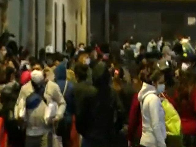 Reactivación económica: ambulantes se dirigen en caravana al Centro de Lima
