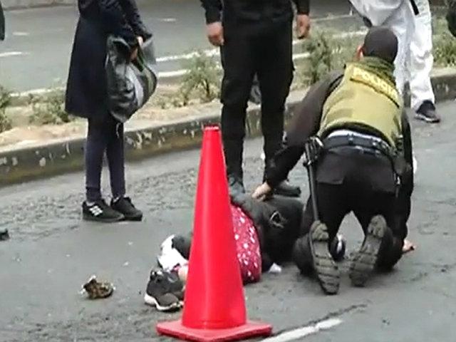 Ambulante que huía de serenazgo fue atropellada