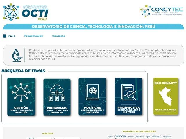 Concytec lanza Observatorio de Ciencia, Tecnología e Innovación