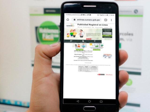 Usuarios podrán obtener virtualmente copias literales de partidas registrales de Sunarp