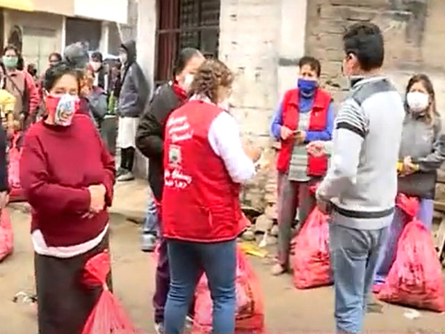 SMP: iglesia dona 250 canastas para población vulnerable de asentamiento humano