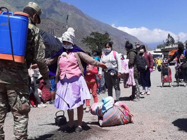 Huancavelica: retornantes habrían provocado incremento de casos de Covid-19