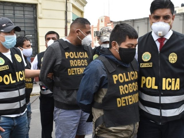 Cae banda criminal que iba desde VES a Lima Norte para cometer asaltos