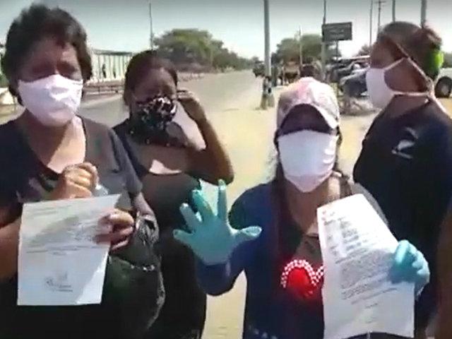 Tumbes: familiares protestan por presuntos reos contagiados de COVID-19