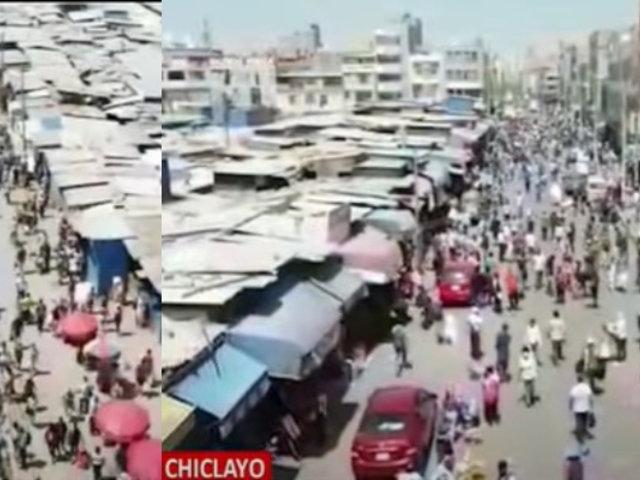 Chiclayo: reabren mercado y da paso a caos, ambulantes y aglomeraciones