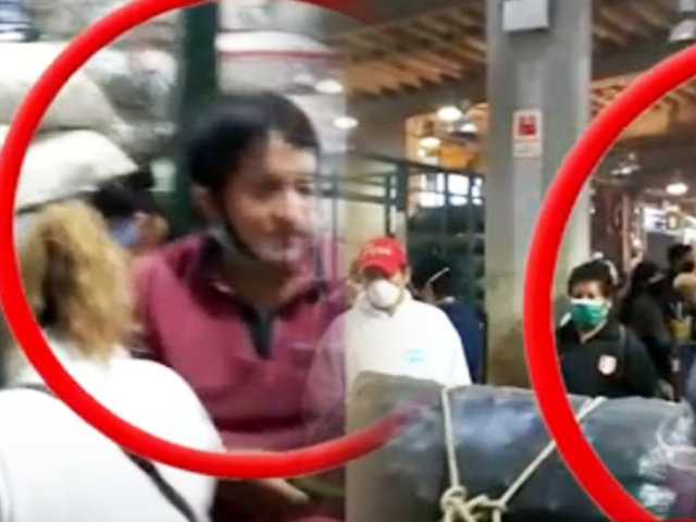 Sin distancia social: aglomeración y caos en el Mercado Santa Anita