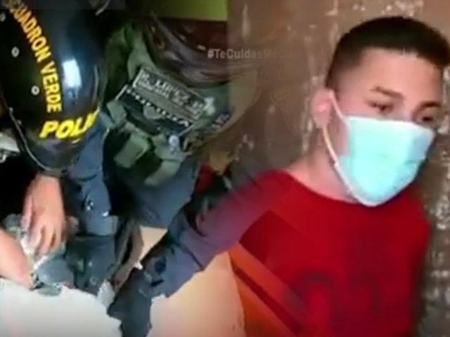 Detienen a un extranjero que comercializaba droga en San Martín de Porres