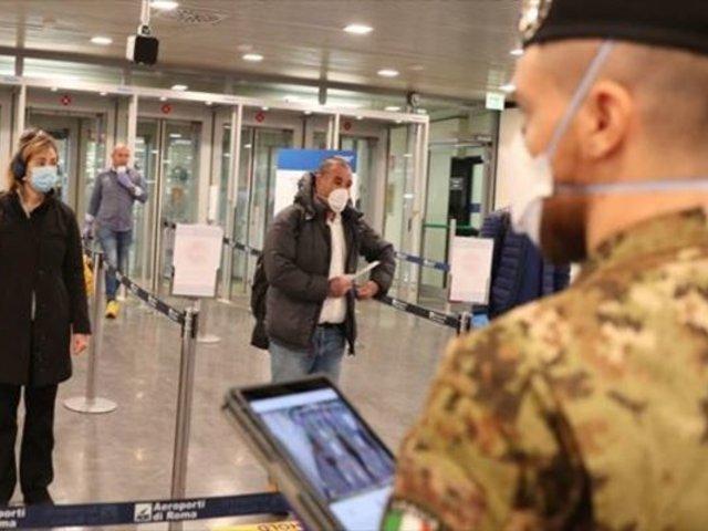 Italia restringe vuelos de Perú y otros países para prevenir el COVID-19