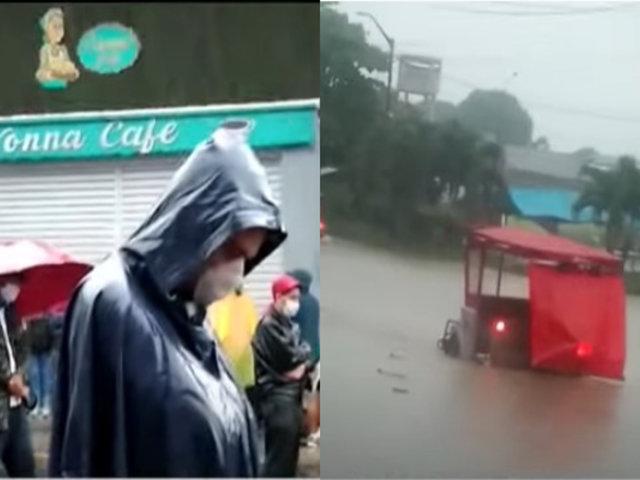 Iquitos: Lluvias inundan céntricas calles de la ciudad