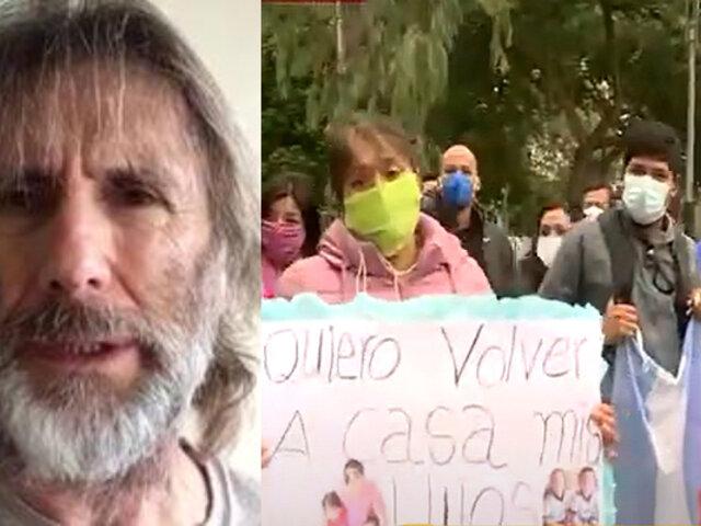 Argentinos varados en Perú reclaman por escasos vuelos humanitarios