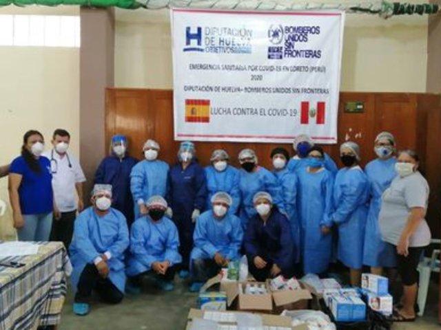 Bomberos Unidos Sin Fronteras entrega material sanitario para Vicariato Apostólico de Iquitos