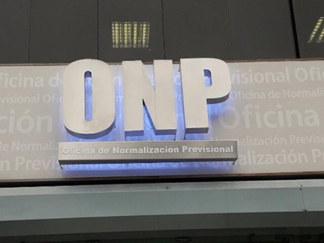 ONP: este viernes iniciará pago a pensionistas