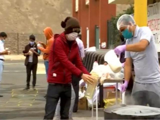 Coronavirus: Estudiantes de San Marcos hacen olla común en plena calle