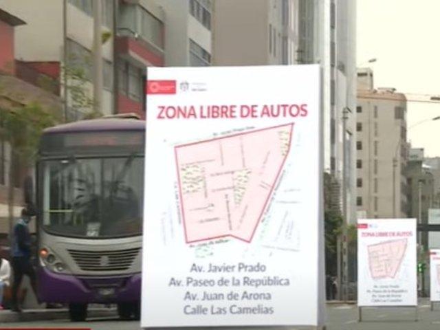 San Isidro habilitó zona libre de vehículos motorizados para fomentar distanciamiento social