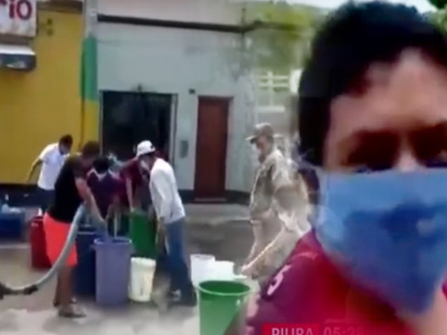 Piura: varios distritos se quedaron sin el servicio de agua en plena pandemia