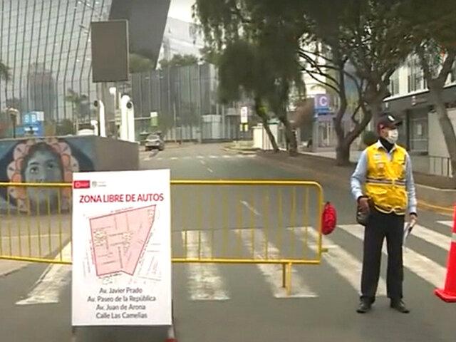 San Isidro: cierran calles de la zona financiera para vehículos