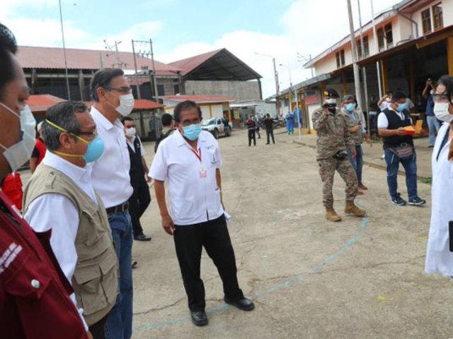 Madre de Dios: presidente Vizcarra supervisa atención a pacientes Covid-19