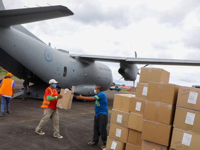 Covid-19: trasladan 4 toneladas de equipos e insumos médicos a Loreto