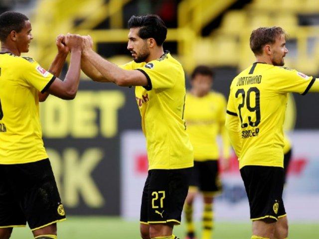 Borussia venció 1-0 al Hertha y se mantiene a siete puntos del Bayern
