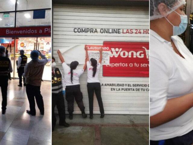 La Molina: clausuran Plaza Vea y Wong tras hallar productos en mal estado