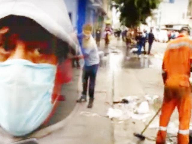 La Victoria: jirón Raimondi termina inmundo por presencia de ambulantes