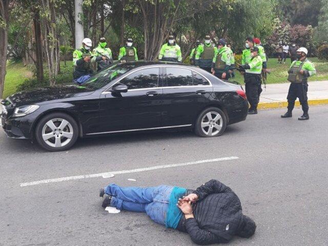 San Borja: cae banda criminal con armas y pasamontañas tras balacera