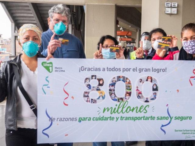 Metro de Lima homenajeó a personal médico del Hospital Dos de Mayo y les donó tarjetas de viaje gratis