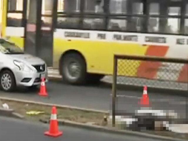 Jesús María: bus a excesiva velocidad acabó con la vida de un indigente en la avenida Brasil