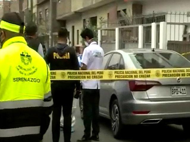 SJL: asesinan a hombre a balazos por presunto ajuste de cuentas