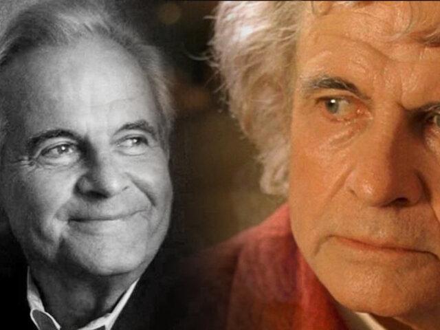 Falleció Ian Holm, el actor que dio vida a Bilbo Bolsón en 'El Señor de los Anillos'