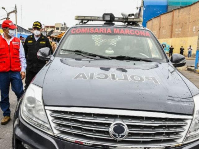 Ministro Rodríguez entregó patrulleros  a comisarías de Marcona y Pisco