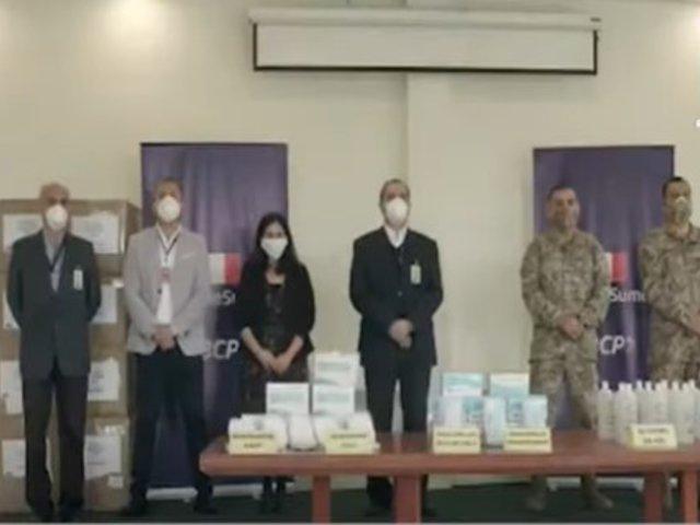 BCP entrega donación de implementos de bioseguridad al Ejército