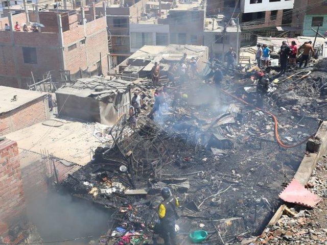 SMP: damnificados por incendio denuncian que serán retirados de carpas